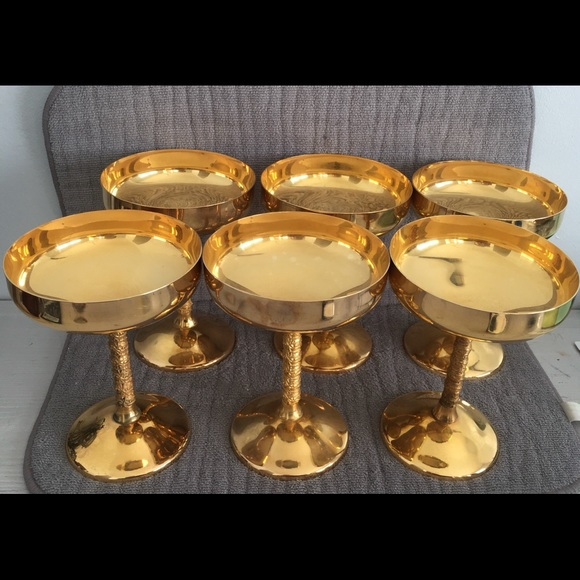 Set Of 6 Champaign Cups / Chalices Famipa Prizren